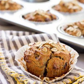 Almond Butter Banana Oat Muffins