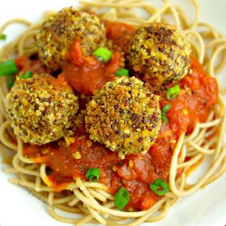 Vegan Lentil Quinoa Hemp Seed Meatballs.