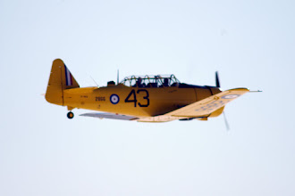 Photo: Vintage Wings Harvard 2866 CF-ROA flies by