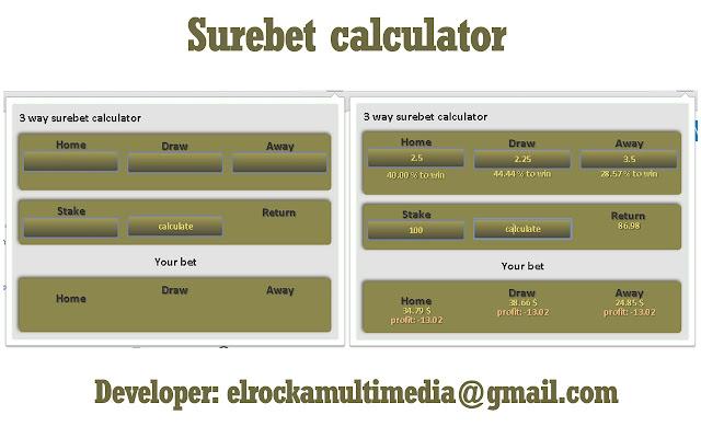 Surebet Calculator