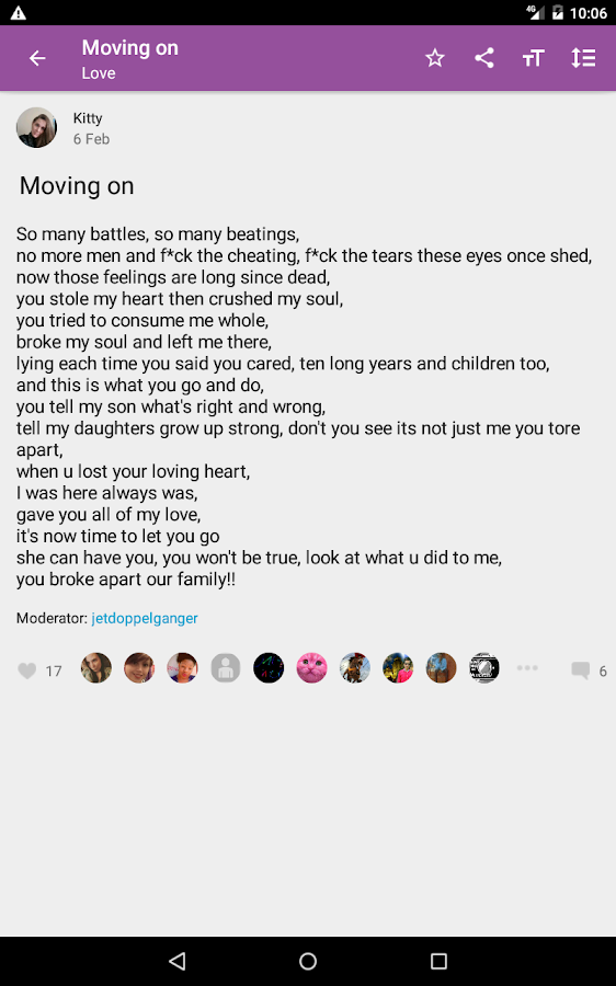 Poems- screenshot