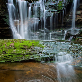 waterfall by Mike Mulligan - Nature Up Close Water ( water, nature, west virginia, outdoors, slow shutter,  )