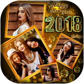 Happy New Year 2018 Photo collage maker