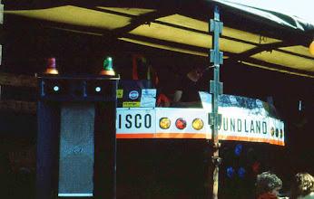 Photo: Oranjefeest; ZESkamp zonder muziek geen gezelligheid. Disco Soundland met Jiel Versteeg als DJ