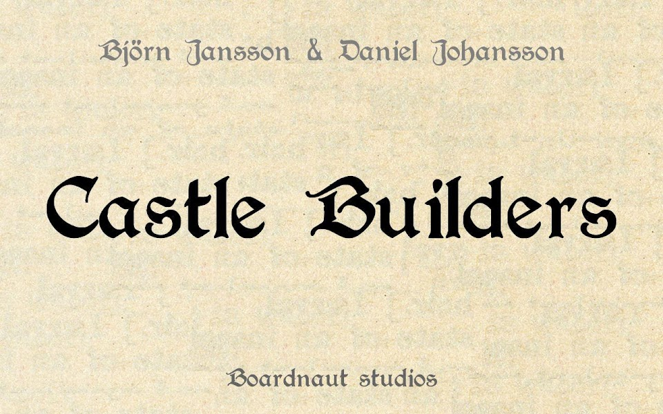 Castle Builders Board Game