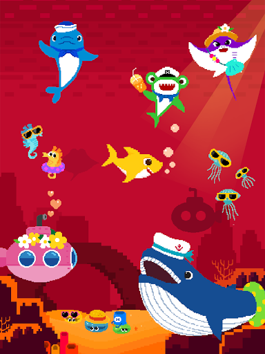 Baby Shark 8BIT : Finding Friends 1.0 screenshots 16
