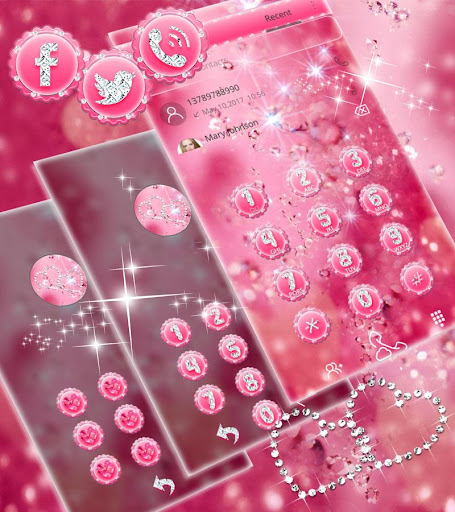 Pink Diamond Theme Wallpaper Glitter 1.1.2 6
