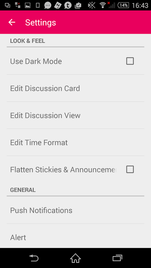 Clickin Moms member forum app- screenshot