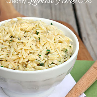 Creamy Lemon Herb Orzo