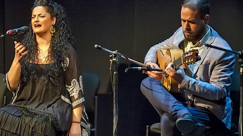 Rocío Segura durante la actuación con la que presentó su admiración a Josele.