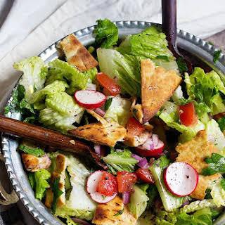 Fattoush Recipe (Traditional Lebanese Salad).