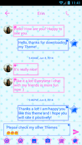 sms messages stars theme screenshot 2