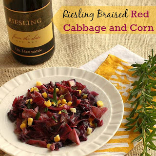 Riesling Braised Red Cabbage and Corn.