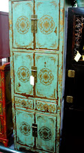 """Photo: F 002 Hand Painted Tibetan Tall Cabinet 24.5""""W x 26""""D x 72""""H Special Sale $800"""
