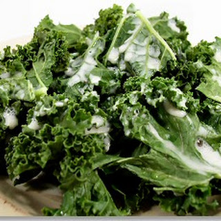 Kale with Cashew Cream Sauce