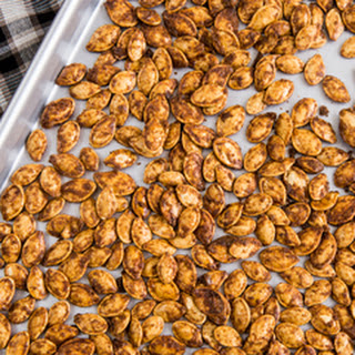 Pumpkin Pie Spiced Pumpkin Seeds