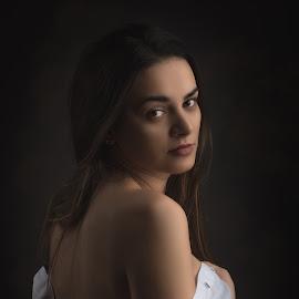 by Marek Kuzlik - People Portraits of Women ( girl, long hair, beautiful, beautiful eyes, lady )