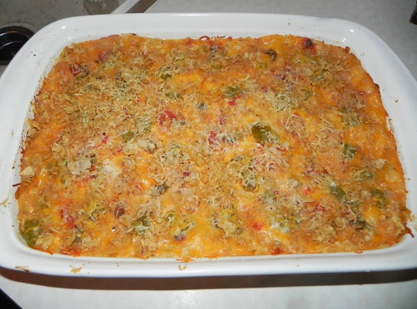 Sprinkle with chunky salsa, a few more green chilies and freshly grated habanero cheese...