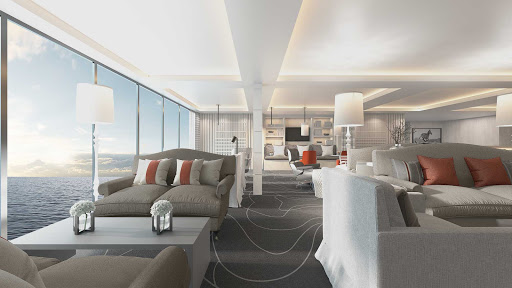 A Retreat Lounge Suite on Celebrity Beyond.