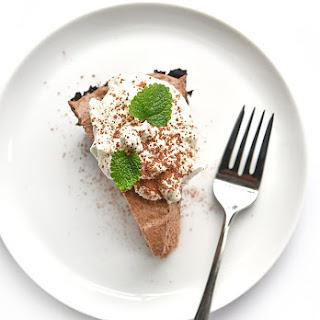 Irish Cream Chocolate Pie.
