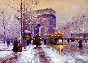 """Photo: Édouard Cortès, """"L'arco di trionfo sotto la neve"""""""