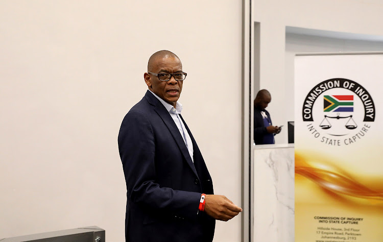 ANC Secretary General Ace Magashule seen at the state capture commission of inquiry where former president Jacob Zuma is giving evidence on Tuesday.