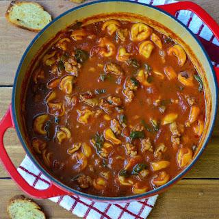 Tortellini Tomato Soup with Italian Sausage