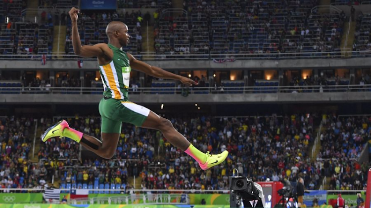 Luvo Manyonga in the long jump final during the evening session at the 2016 Rio Olympics at Olympic Stadium on Saturday in Rio de Janeiro, Brazil. Picture: ROGER SEDRES/GALLO IMAGES