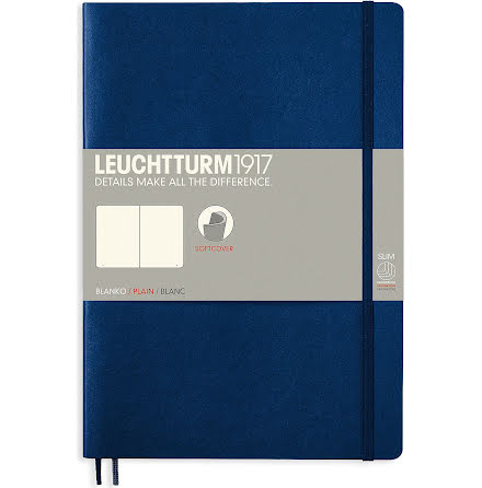 Anteckningsbok B5 soft bla blå