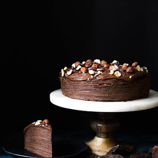Chocolate Hazelnut Crêpe Cake.