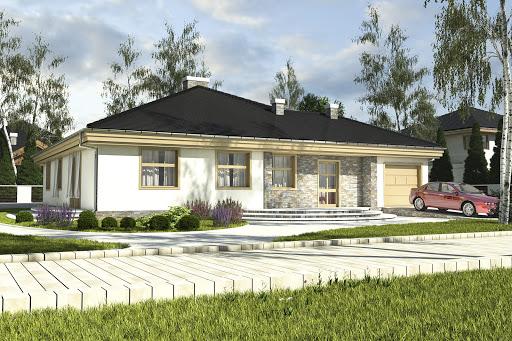 projekt Helenka z garażem 1-st. A1