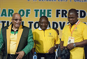 FILE PHOTO: ANC president Jacob Zuma, deputy president Cyril Ramaphosa and treasurer-general Zweli Mkhize.
