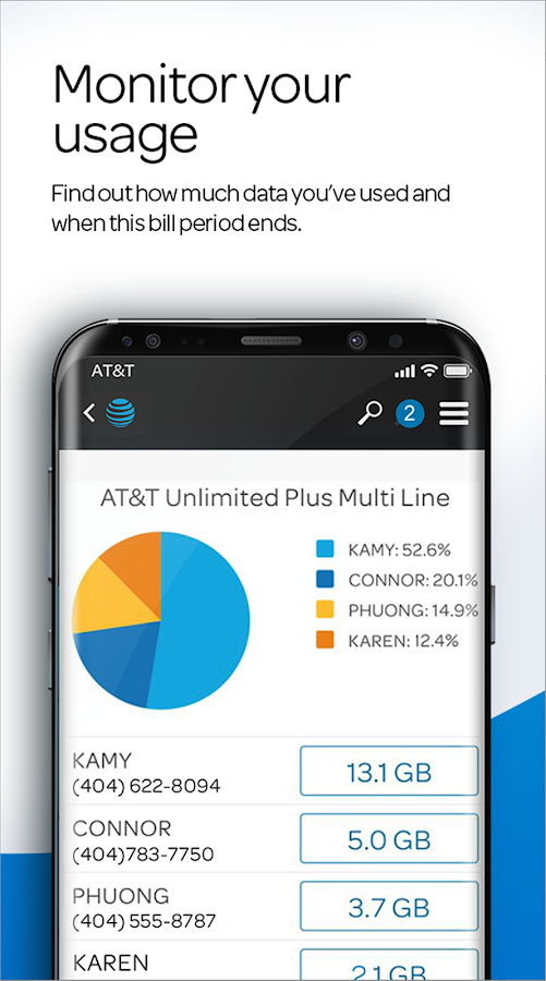 myAT&T- screenshot