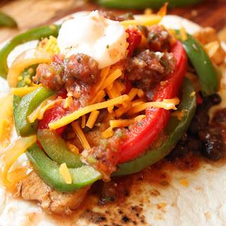 30 Minute Chicken and Black Bean Fajitas Recipe