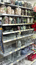 Photo: After getting all of the food supplies I needed (I already had everything else at home) I stopped by the craft aisle to get some sea shells and blue beads for our tablescape.