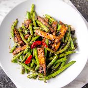 63. Stir-Fried Green Beans with Veggie Chops