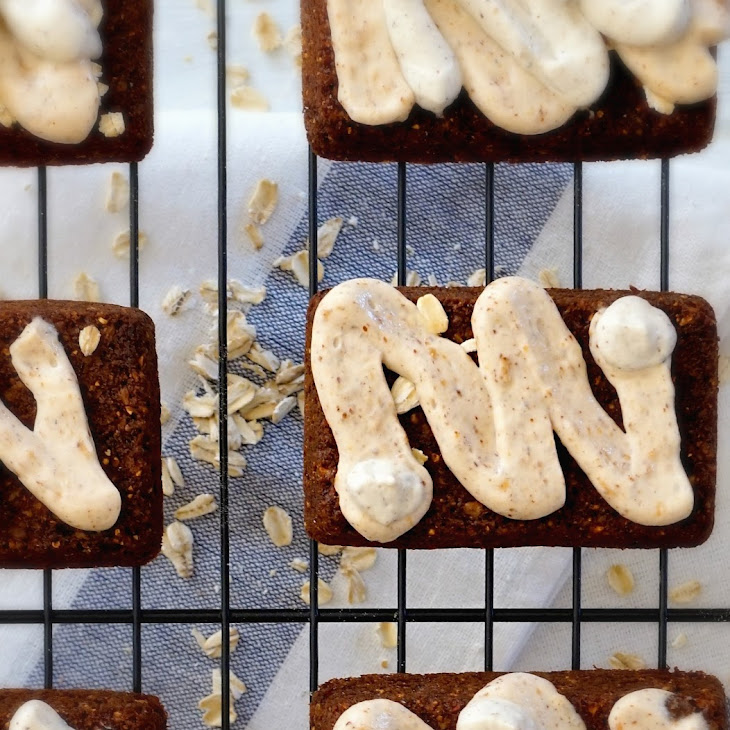 Gluten Free Honey Oat Cereal Bar with Nut Butter Frosting