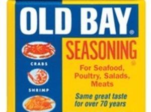 In a paper lunch bag, put the flour, salt, pepper & Old Bay in....