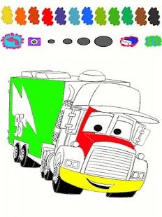 Truck Family Cartoon Coloring Screenshot Thumbnail