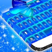GO Keyboard Blue Theme