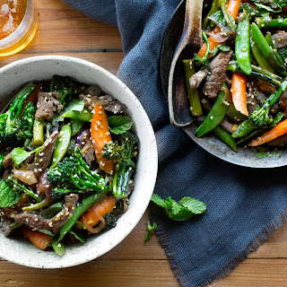 Stir-Fried Beef with Broccolini and Snap Peas Recipe