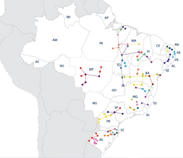 Distribuição geográfica Taesa.