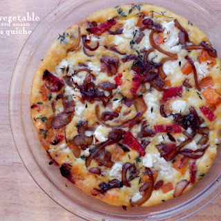 Roasted Vegetable Crust-less Quiche