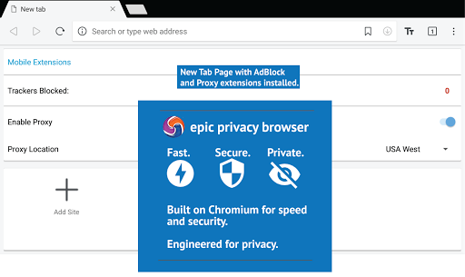 Epic Privacy Browser with AdBlock, Vault, Free VPN Apk Download For Android 7