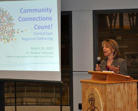 Photo: Keynote presentation by Dr. Rosana Pellizzari, Medical Officer of Health, Peterborough County-City Health Unit