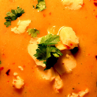Sweet and Salty Red Pepper and Plantain Soup