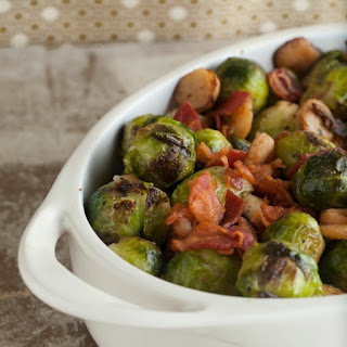 Pan Roasted Brussels Sprouts with Bacon.