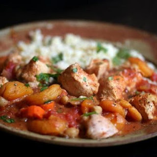 Recipe For Slow-cooker Chicken Tagine.