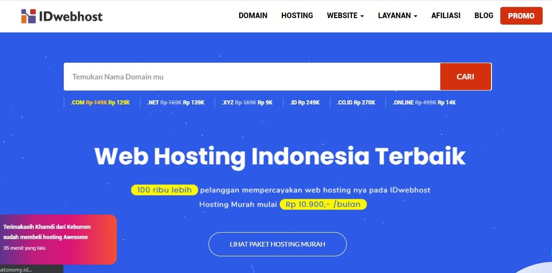 Nama Provider Hosting Terpercaya Indonesia IDwebhost