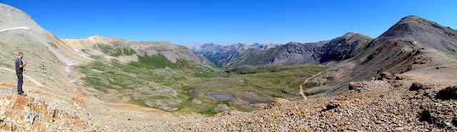 Ingram Basin pano from Black Bear Pass
